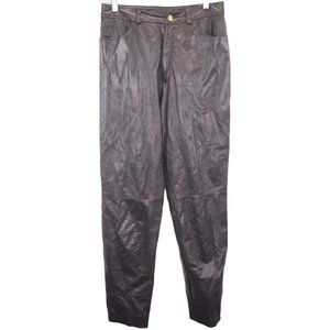 O243 Vintage St John Marie Brown Leather Pants Mad